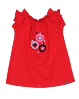 Nano Baby Girls T-shirt with Apple Applique
