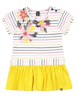Nano Baby Girls Striped Tunic with Floral Print