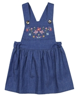 Nano Baby Girls Suspenders Skirt with Embroidery