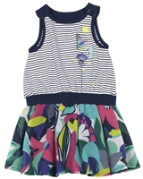 Nano Baby Girls Tank Dress with Chiffon Bottom