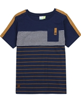 Nano Boys Striped T-shirt with Chest Pocket