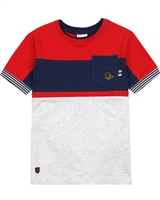 Nano Boys Colour-Block T-shirt with Chest Pocket