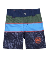 Nano Boys Striped and Tropical Print Swim Shorts
