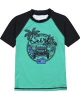 Nano Boys Short Sleeve Rashguard in Navy/Green