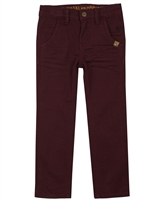 Nano Boys Basic Twill Pants in Burgundy