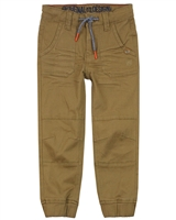 Nano Boys Twill Jogger Pants in Brown