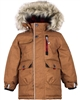 Nano Boys Parka Coat with Hood in Brown