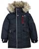 Nano Boys Parka Coat with Hood in Black