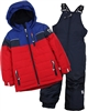 Nano Boys Snowsuit with Colour-block Quilted Jacket