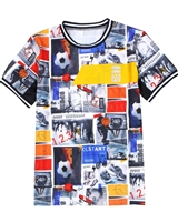 Nano Boys Printed Athletic T-shirt
