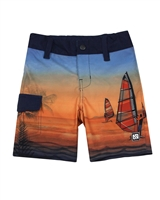 Nano Boys Boardshorts with Windsurfing Print