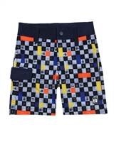 Nano Boys Boardshorts in Check Print