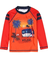 Nano Boys Long Sleeve Rashguard with Beach Print
