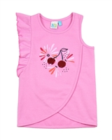 Nano Grils Tank Top with Shoulder Flounce