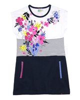 Nano Grils Colour-Block Tunic with Stripe and Floral Print
