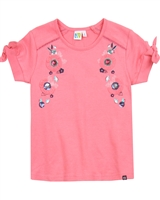 Nano Girls Floral Embellished T-shirt
