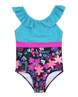 Nano Grils Swimsuit with Top Ruffle