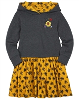 Nano Hooded Dress with Embroidery