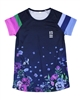 Nano Short Sleeve Athletic Top in Floral Print