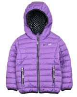 Nano Girls Transitional Quilted Jacket in Lilac