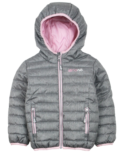 Nano Girls Transitional Quilted Jacket in Grey