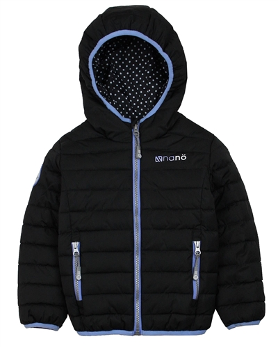 Nano Girls Transitional Quilted Jacket in Black