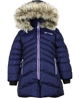 Nano Girls Quilted Coat with Hood in Navy