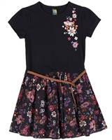 Nano Girls Dress with Floral Print Bottom