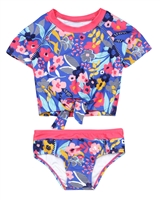 Nano Girls Two-piece Rashguard in Floral Print