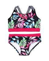 Nano Girls Two-piece Bikini in Leaves Print
