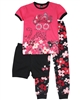 Nano Girls Three-piece Pyjamas Set in Floral Print
