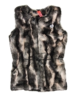 NoBell Junior Girl's Fake Fur Long Gilet