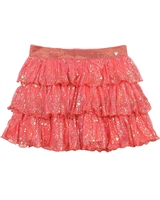 Nono Tiered Skirt with Gold Print