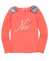Nono T-shirt with Furry Shoulder Tops