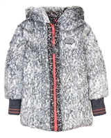 Nono Faux Fur/Print Reversible Coat