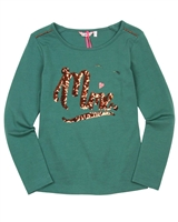 Nono T-shirt with Sequins Applique in Green