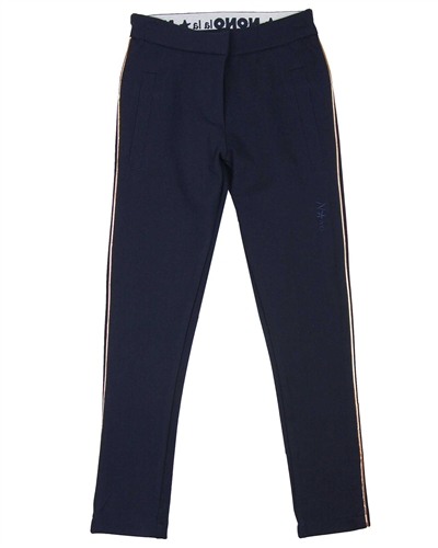 Nono Ponte Pants with Golden Ropes on the Sides