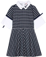 Nono Striped Knit Dress with Collar