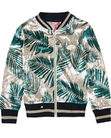 Nono Velour Cardigan in Tropical Print