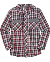 Petit Lem Signature Little Boy's Plaid Shirt  Holiday Magic