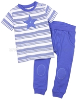 Petit Lem Little Star Striped T-shirt and Pants Set