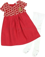 Petit Lem Signature Little Girl's Dress and Tights Classy and Cute