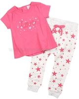 Petit Lem Little Star Top and Sweatpants Set
