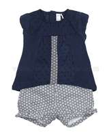 Petit Lem Origami Flowers Top and Shorts Set