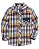 Petit Lem Plaid Shirt Robot Science