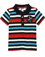 Petit Lem Striped Polo Around the World,