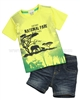 Petit Lem Denim Shorts and T-shirt Mighty Jungel