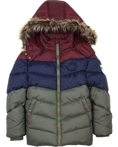 3Pommes Boy's Quilted Puffer Coat