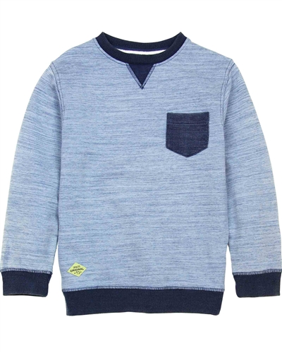 3Pommes Boy's Sweatshirt in Denim Look