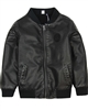 3Pommes Boy's Pleather Bomber Jacket
